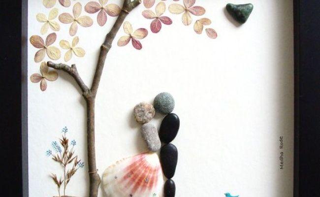 Unique Wedding Gift Personalized Wedding Gift Pebble Art