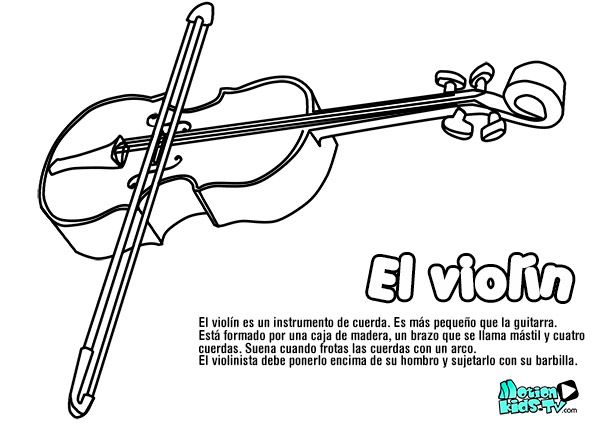 Pintas instrumentos musica VIOLIN, recursos educativos