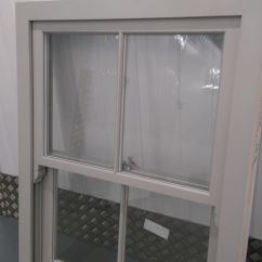 Patio Kitchen Countertop Decor Victorian Sash Finished In Ral 7038 With White Warm Edge ...