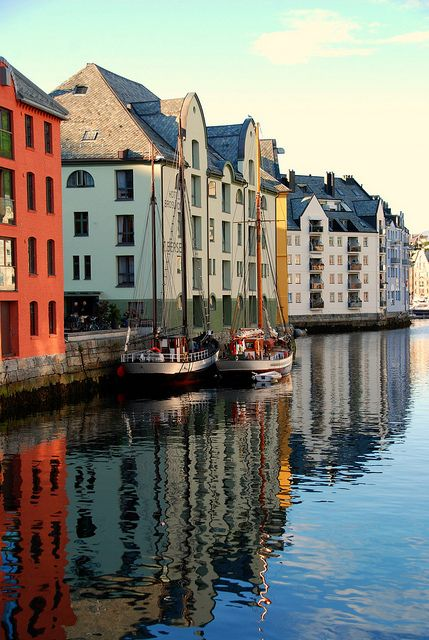 Reflections in Alesund, Norway