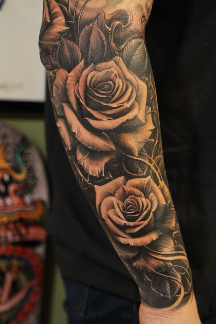 Best 25+ Rose Sleeve Ideas On Pinterest  Mandala Tattoo