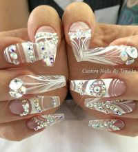 25+ best ideas about Rhinestone nail designs on Pinterest ...