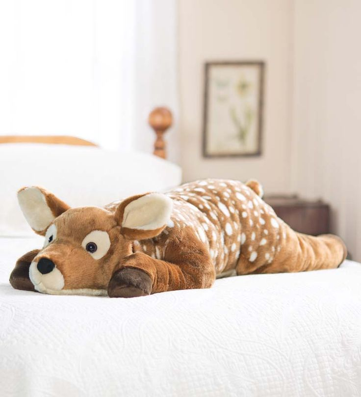 Fuzzy Spotted Fawn Body Pillow Gifts For Pets Things I