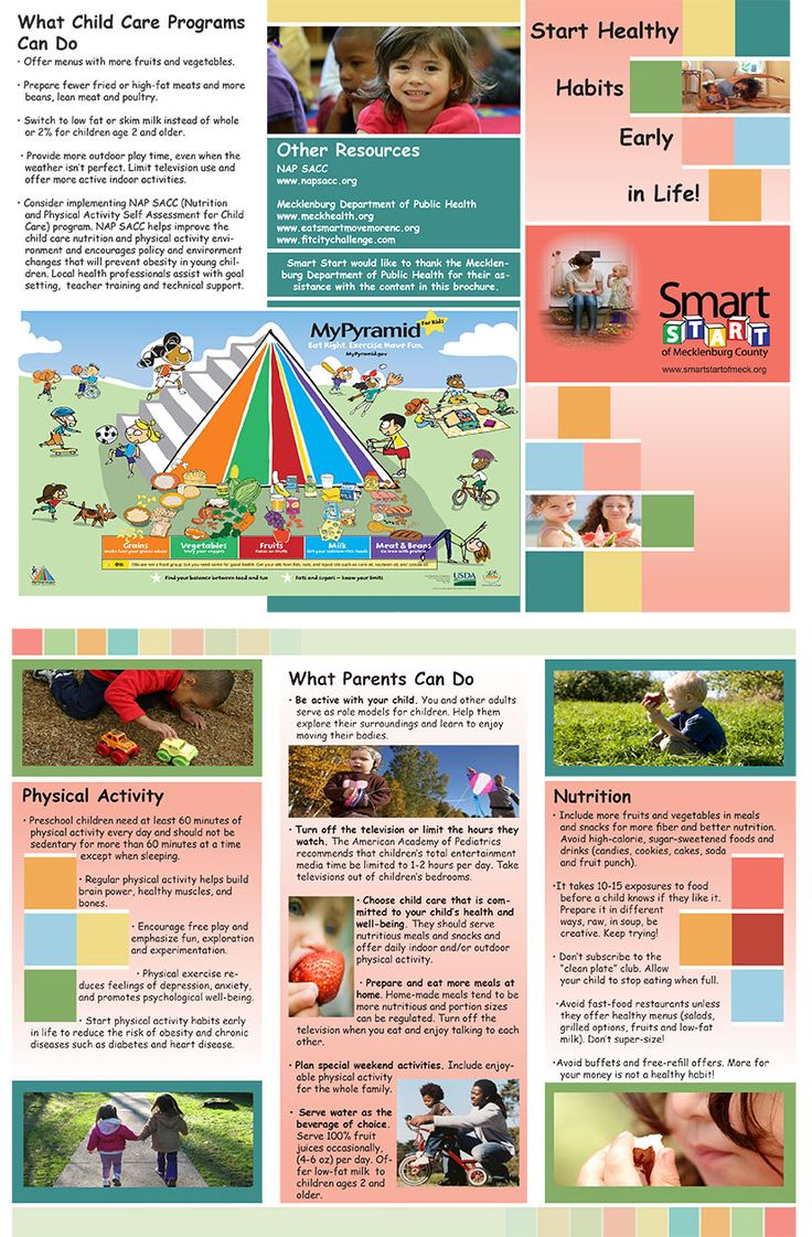 Design & Layout On Children's Nutrition Brochure For Smart