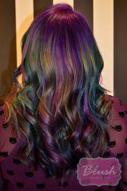 oil slick hair color ideas