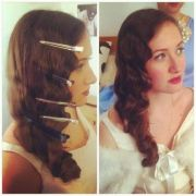 christmas party hair 1920 style