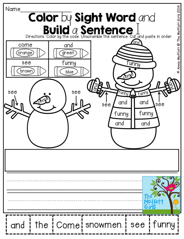 233 best images about color by sight words on Pinterest