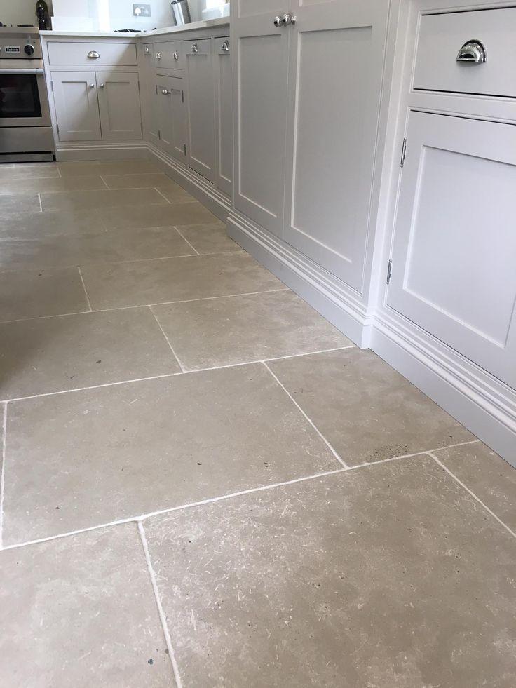Paris Grey limestone tiles for a durable kitchen floor