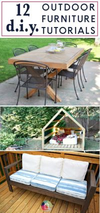 17 Best ideas about Diy Outdoor Furniture on Pinterest ...
