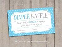 Baby Shower Diaper Raffle Tickets / Blue Baby Shower ...