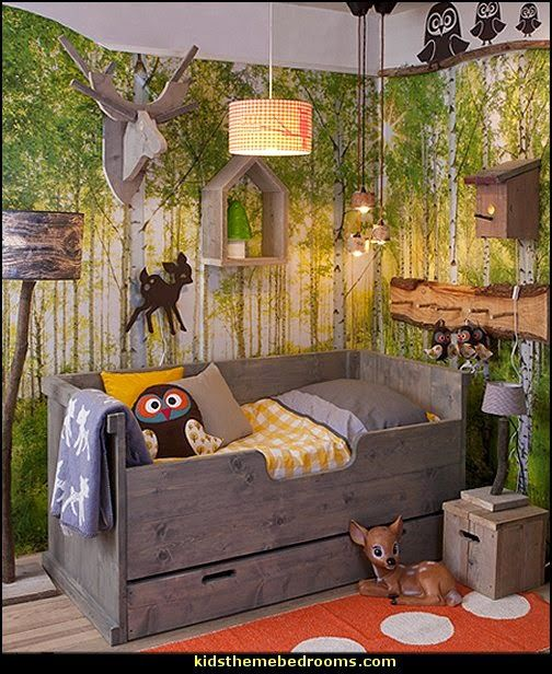 Stain Accessories Woodland Forest Theme Bedroom Decorating Ideas Animals