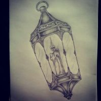 Candle Lamp tattoo sketch by - Ranz | Pinterest | Lamp ...