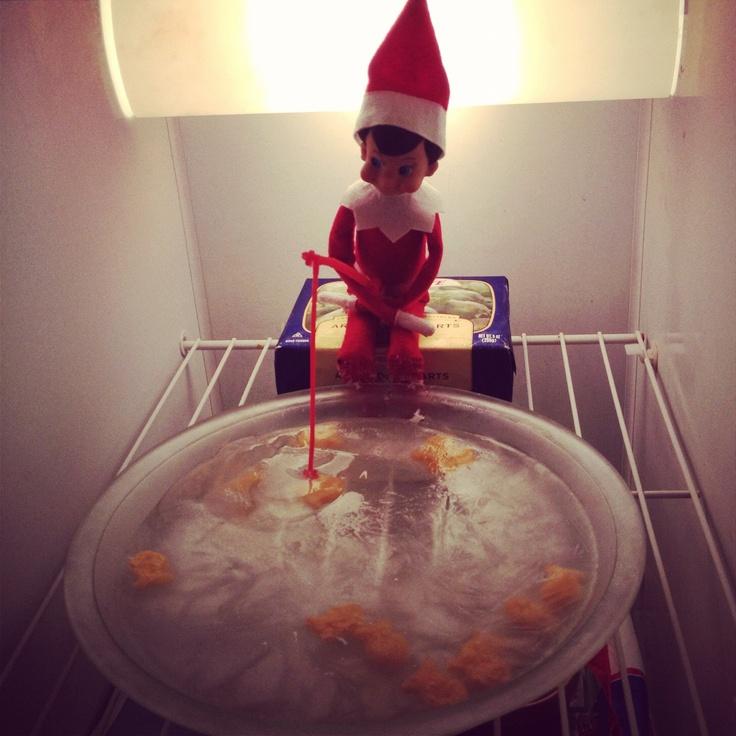 Elf On The Shelf Ice Fishing Elf On The Shelf