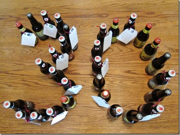 30 beers with 30 reasons why the recipient is great (30th birthday gift for beer