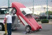 Tie downs? What tie downs? #wreck #classiccorvette #