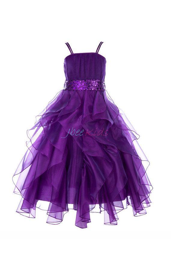 25+ best ideas about Purple flower girls on Pinterest