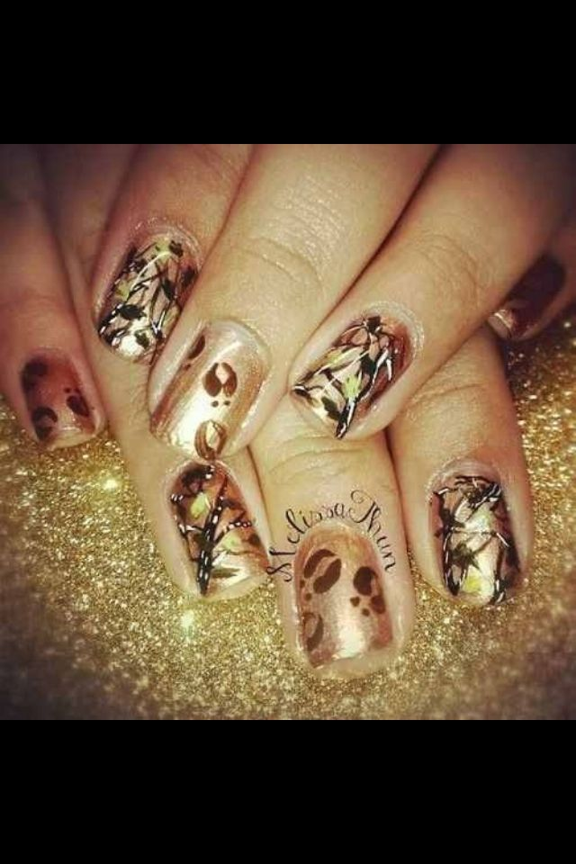 Country Nails LOVE NAILS Pinterest Camo Nails