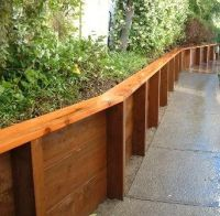 25+ best ideas about Wood retaining wall on Pinterest