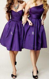 Regency Bridesmaid Dress, Satin Bridesmaid dress, Knee ...