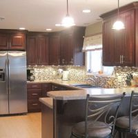 Traditional Kitchen Peninsula +raised Ranch Kitchen Design ...