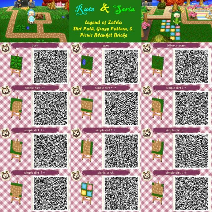 Acnl Paths Happy Home Designer Leaves Animal Crossing Qr Qr