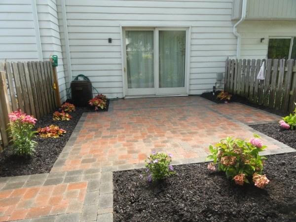 beautiful brick paver patio