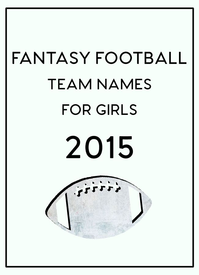 25+ best ideas about Fantasy football names on Pinterest