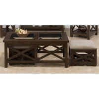 Idea for living room - coffee table with stow away stools ...