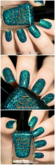 ideas teal nail design