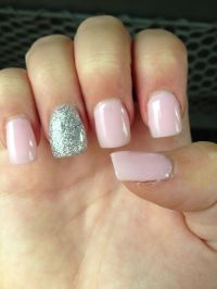 Light pink sparkle nails | My life. | Pinterest ...