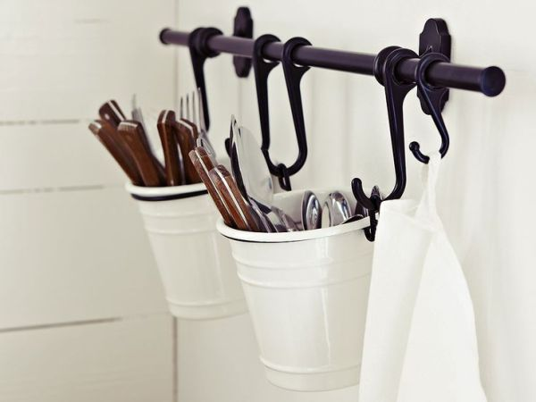 ikea kitchen hanging storage Ikea :: create a hanging utensil holder with items sold at