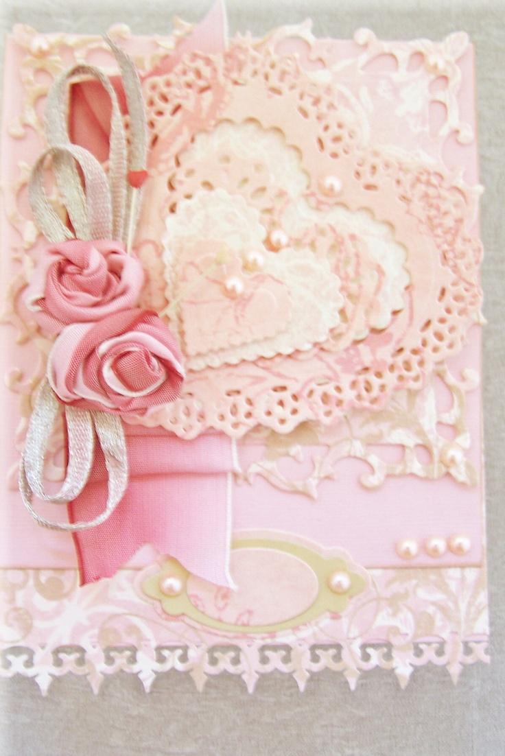 Pink Heart Spellbinders Dies QuicKutz Nesting Doily