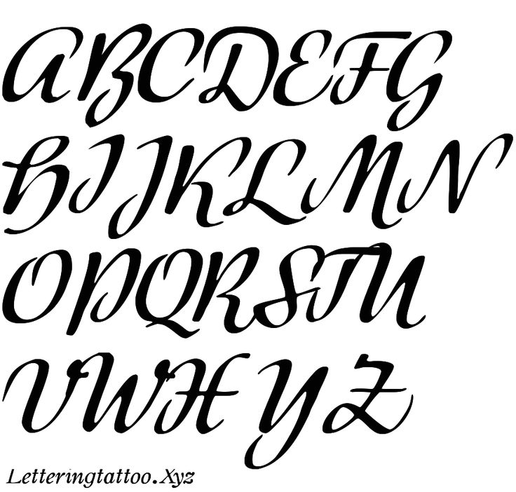 25+ Best Tattoo Lettering Fonts Ideas On Pinterest