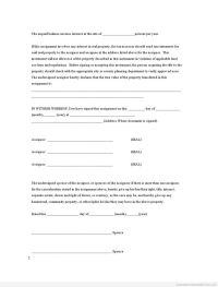 Printable assignment joint ownership with right of ...