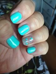 gorgeous aqua blue gel nails