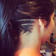 nape undercut long hair pattern
