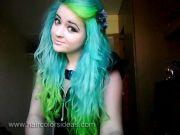 lime green hair dye tasha's turquoise
