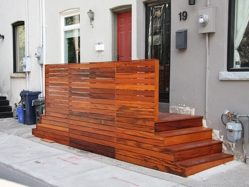 Stain for back doors rcstyleinc Tiger Wood Deck  modern rowhouse townhouse exterior