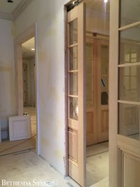 #BethesdaStyle ~ Mudroom ~ Custom Pine Pocket French Doors ...
