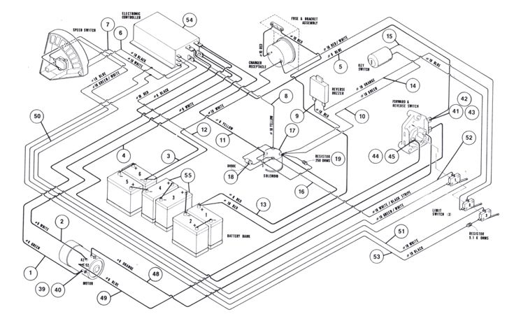 ezgo 36 volt battery wiring diagram gigabit switch 1997 club car 48v forward and reverse | club: 48 3.10 horsepower ...