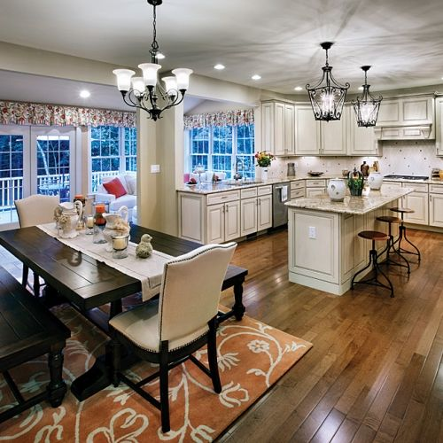 Sunroom addition off the kitchen  kitchen  Pinterest