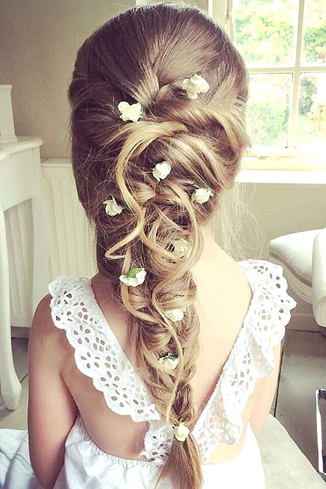 25 Best Ideas About Flower Girl Hairstyles On Pinterest Girl