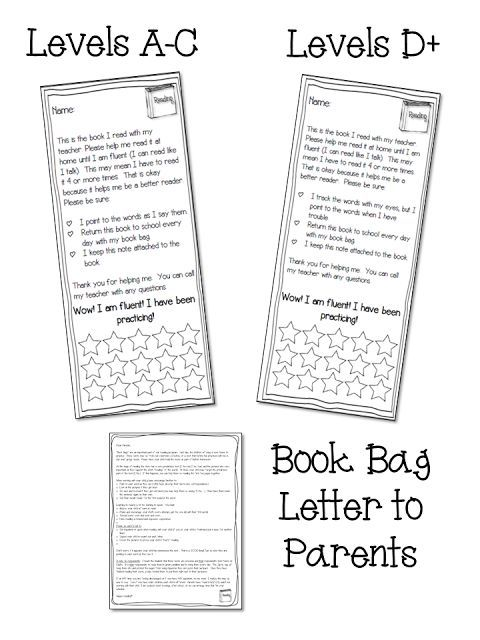 Keeping Parents informed is important. Grab a book bag