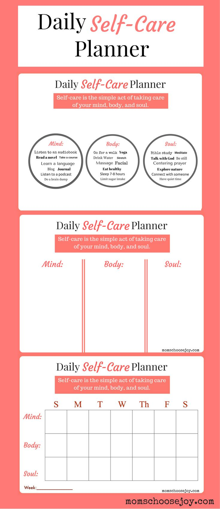 Do you prioritize SELF-CARE? A daily self-care planner will help you establish a r