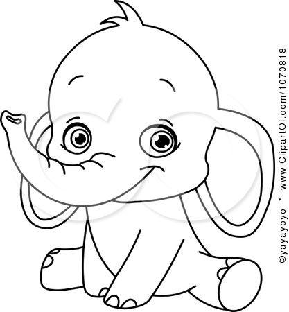 Top 25+ best Elephant outline ideas on Pinterest