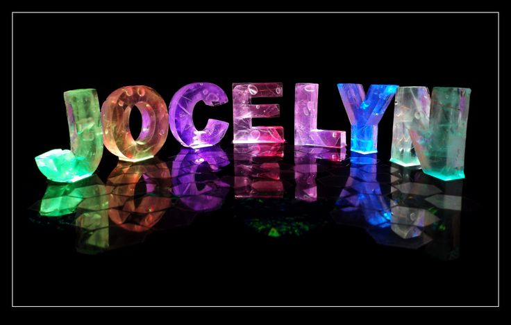 The Name Jocelyn In 3D Coloured Lights Nothing But
