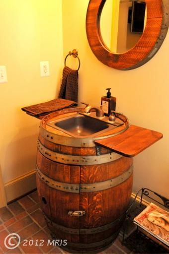 Best 20 Wine barrel sink ideas on Pinterest