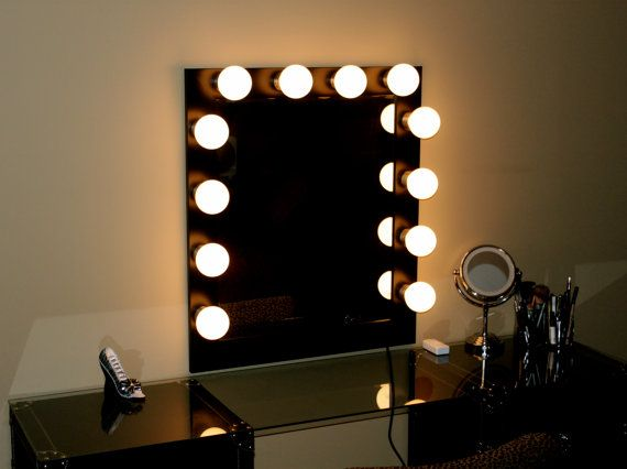 Hollywood Lights Makeup Mirror by HollywoodLights4You