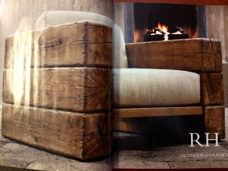 Chair made with railroad ties  Creative Interior Design