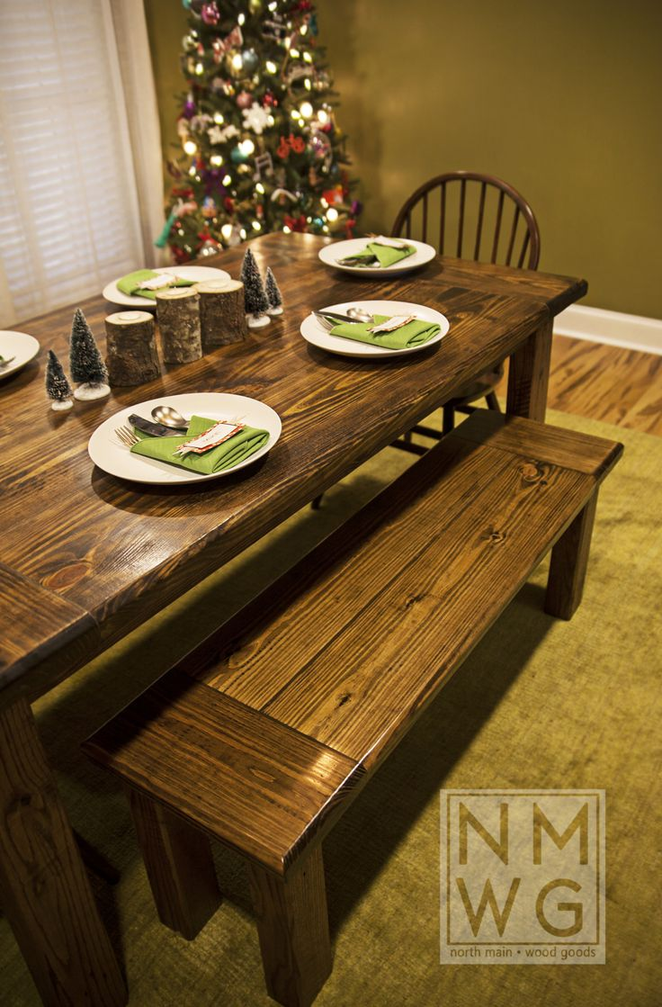 This Is A Pine Farmhouse Table Stained With Minwax Dark